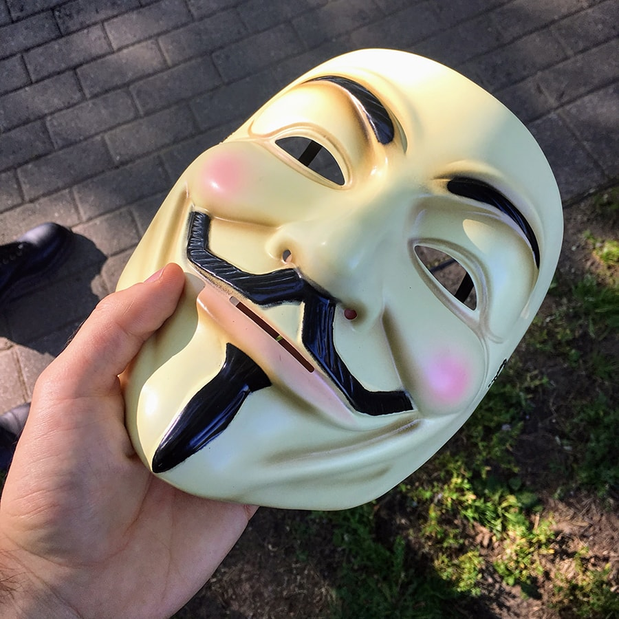 Masque Anonymous pour le Cube of Truth